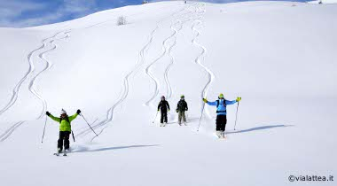 deep powder fiels in val di susa, aosta valley