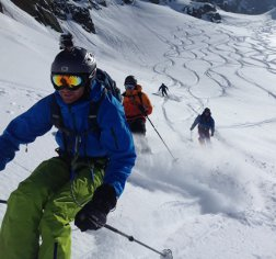 heli-skiing in aosta valley, italy