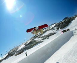 glacier skiing and summer skiing in tignes, espace killy, france