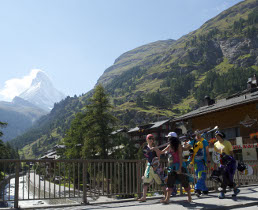 glacier and summer skiing in zermatt, switzerland
