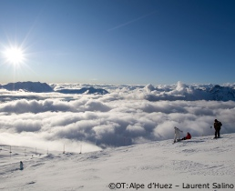 alpe d'huez ski conditions, Grandes Rousses Massif