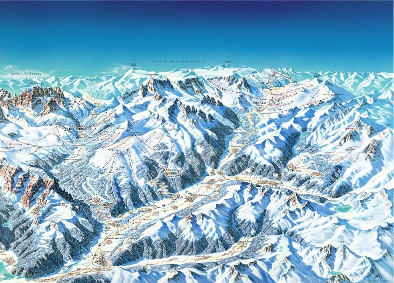 Val di Sole Piste Map Val di Sole Ski Area Map My Chalet Finder