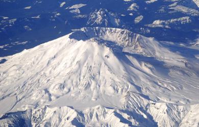 ariel view of mount st-helens