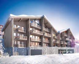 plagne 1800, paradiski, new chalets and apartments for sale