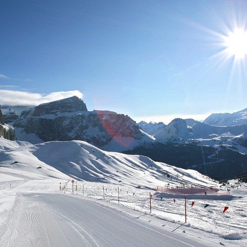canazei, green pistes for beginner skiers