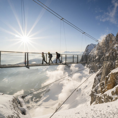 dachstein glacier skiing at christmas