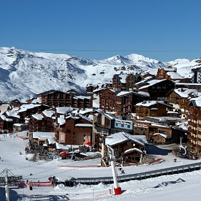 christmas skiing in val thorens
