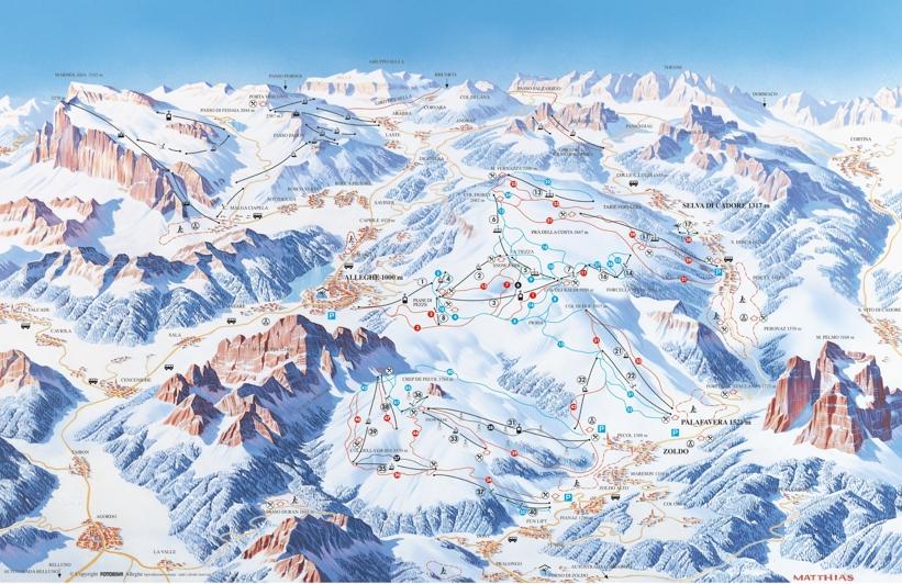 Alleghe Ski Civetta Piste Map Skiing in Civetta My Chalet Finder