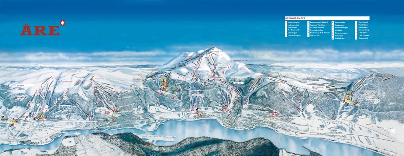 Advertise On My Car >> Åre Ski Resort Piste Map | Skiing in Åre, Sweden - My ...