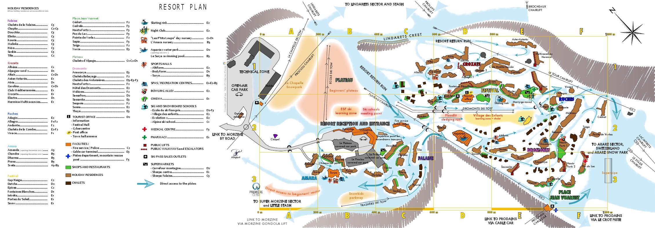 Avoriaz PIste Map Portes du Soleil Piste Map My Chalet Finder