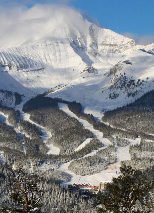 big-sky ski vacations on lone mountain mountain, montana