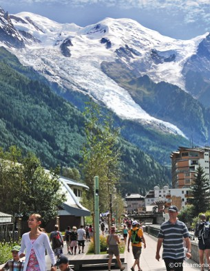 chamonix valley in the summer