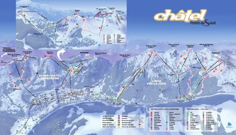 Chatel Piste Map Chatel Ski Area Trails Map My Chalet Finder