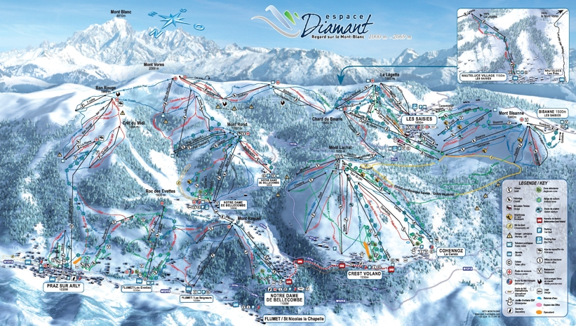 Piste map for Crest Voland