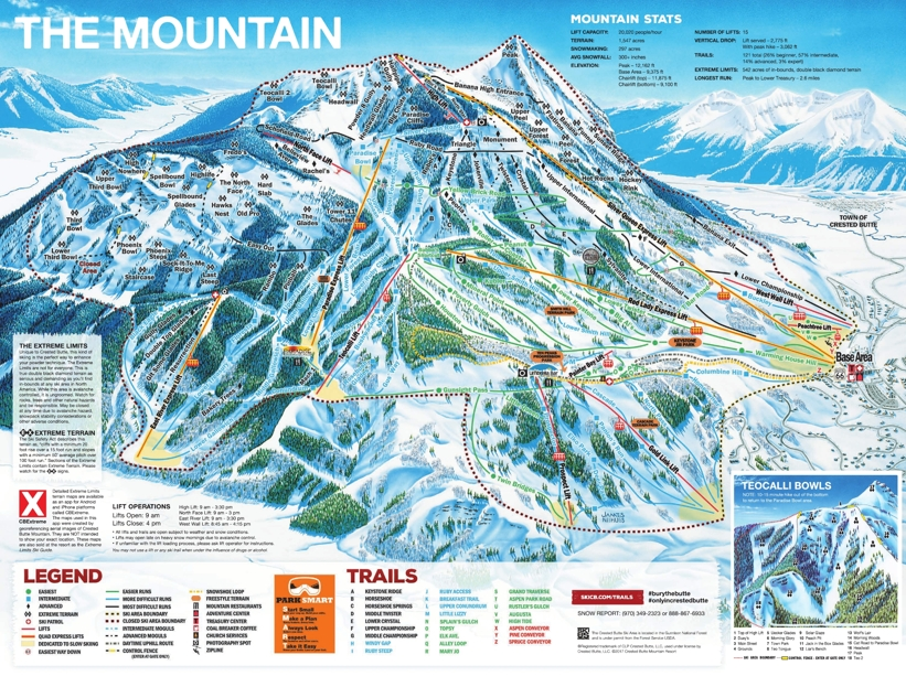 Piste map for Crested Butte