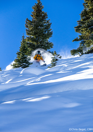 back-country off-piste skiing in crested butte