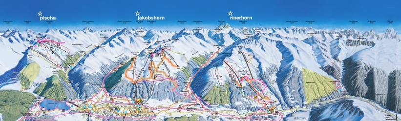 Piste map for Davos