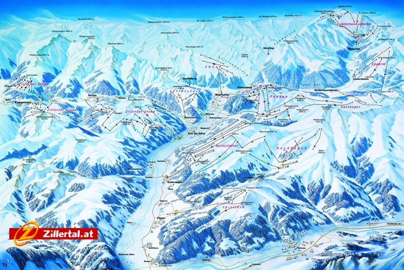 Piste map for Fugen