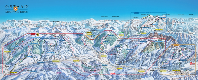 Gstaad Piste Map GlacierAlpes Vaudoises Skiing Gstaad My