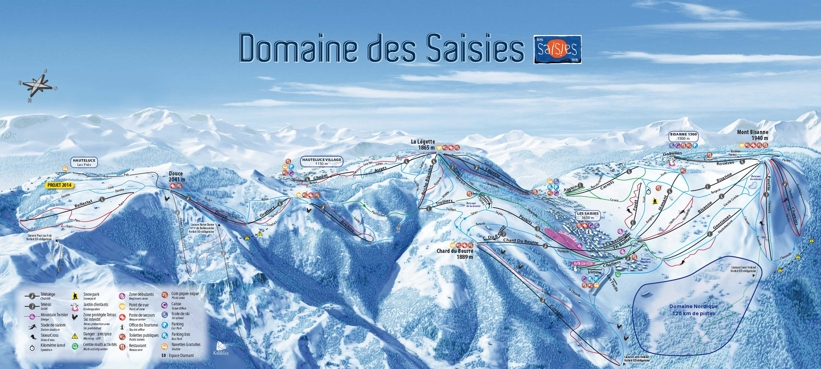 Hauteluce Piste Map Hauteluce Ski Area My Chalet Finder