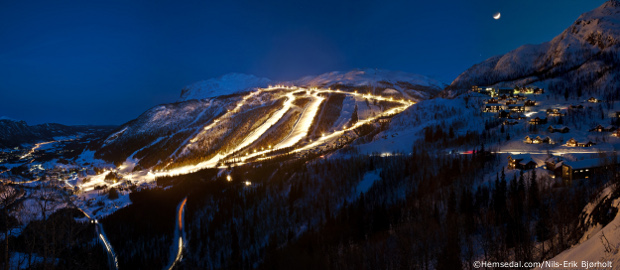 hemsedal cabins, night skiing