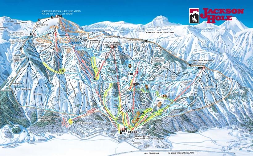 jackson hole trail  u0026 piste map
