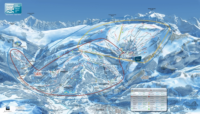 Cable Services In My Area >> Les Carroz Piste Map | Grand Massif Piste Map | Skiing Les Carroz - My Chalet Finder