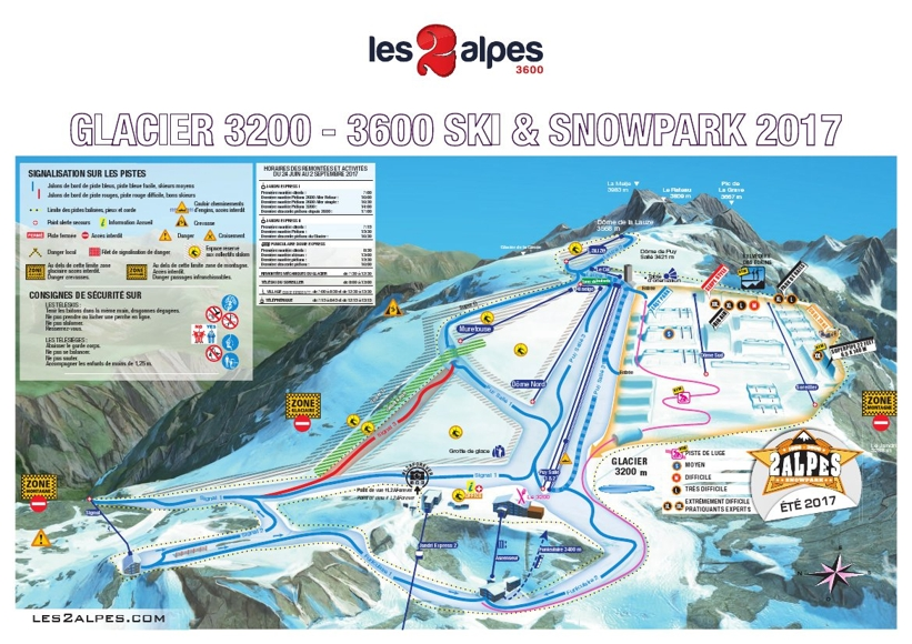 Les Deux Alpes Piste Map Les Deux Alpes Area Map My Chalet Finder