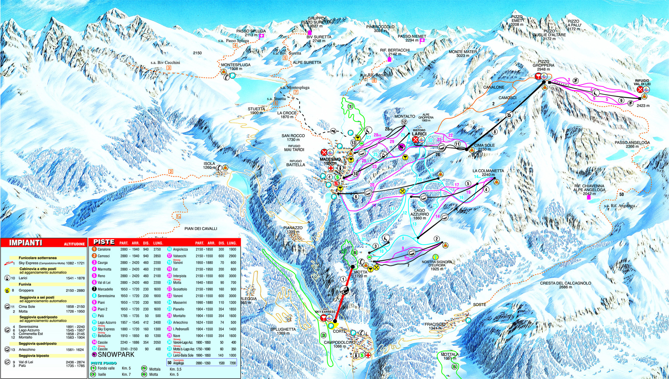Madesimo Piste Map Skiing in Madesimo My Chalet Finder