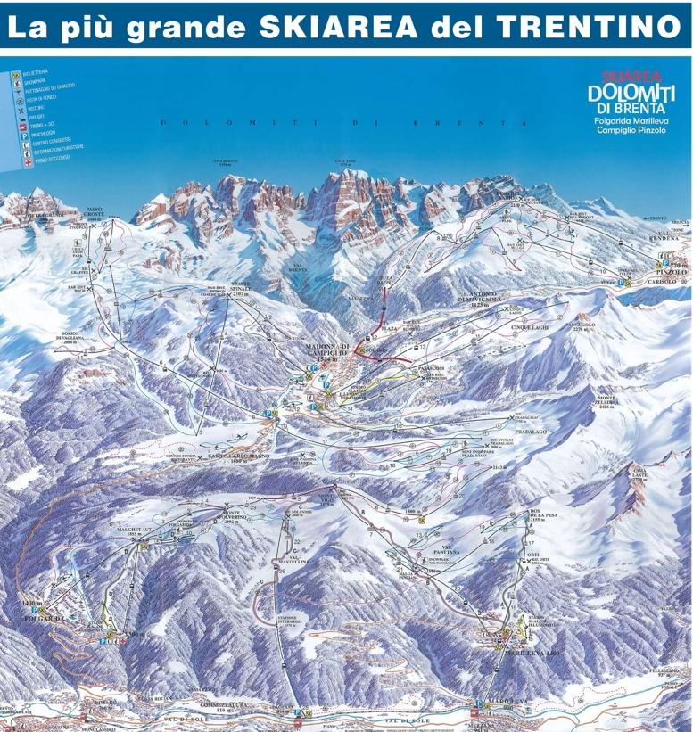 Madonna di Campiglio piste map Skiing in Madonna di Campiglio My