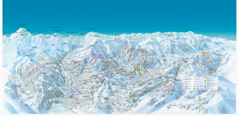 Megeve Piste Map Skiing in Megeve Evasion Mont Blanc Piste Map