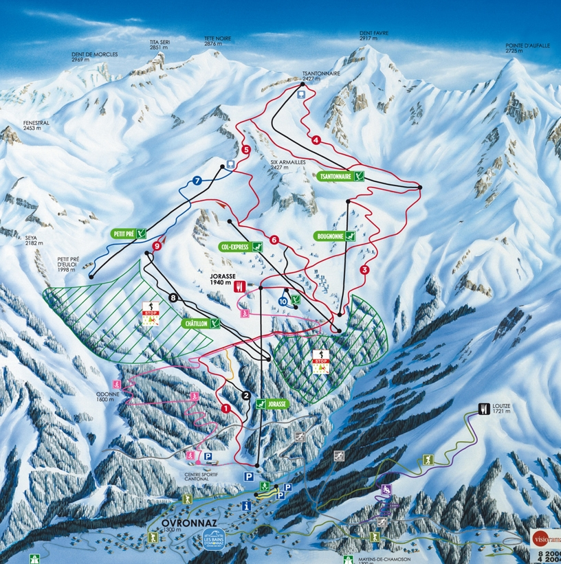 Ovronnaz Piste Map Skiing Ovronnaz My Chalet Finder