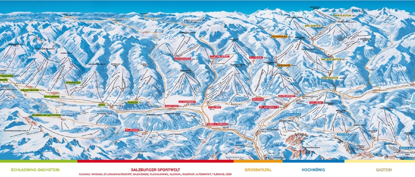 Radstadt piste map skiing amp snowboarding around radstadt ski amade