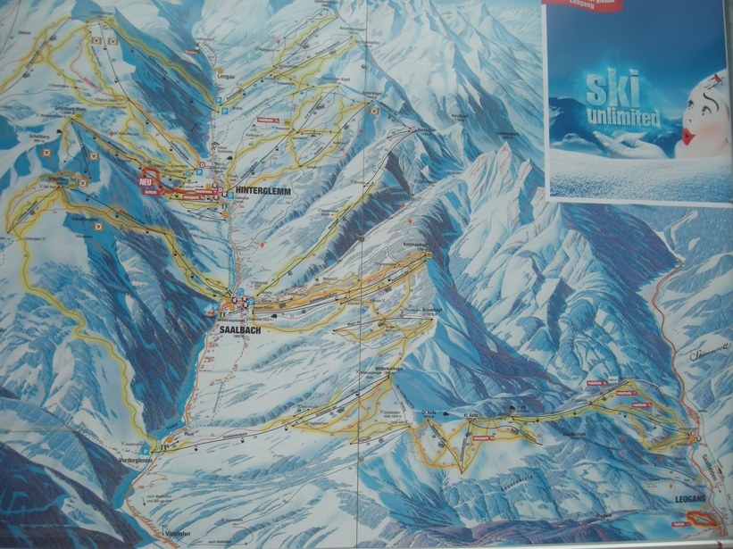 Saalfelden Leogang Ski Circus Piste Map Skiing In