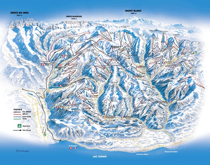 Piste map for Saint Jean d'Aulps