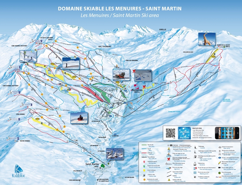 Saint Martin de Belleville PIste Map Ski Area My Chalet Finder