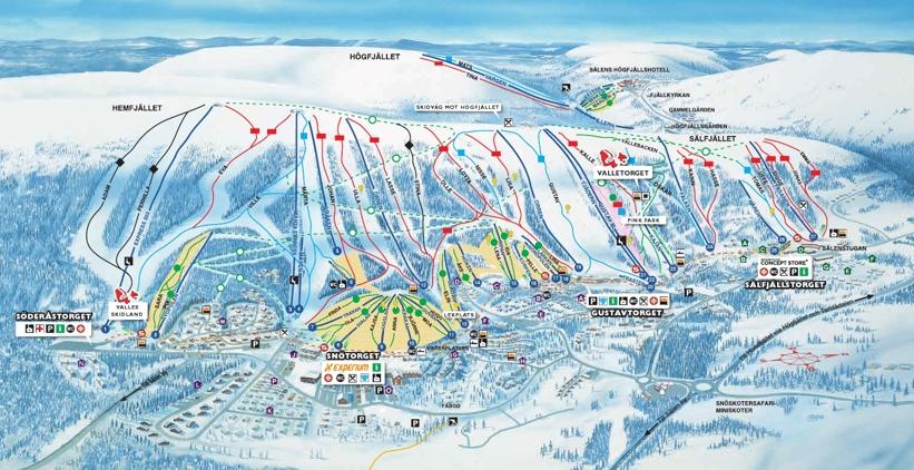 S 228 Len Piste Map Skiing In Lindvallen H 246 Gfj 228 Llet
