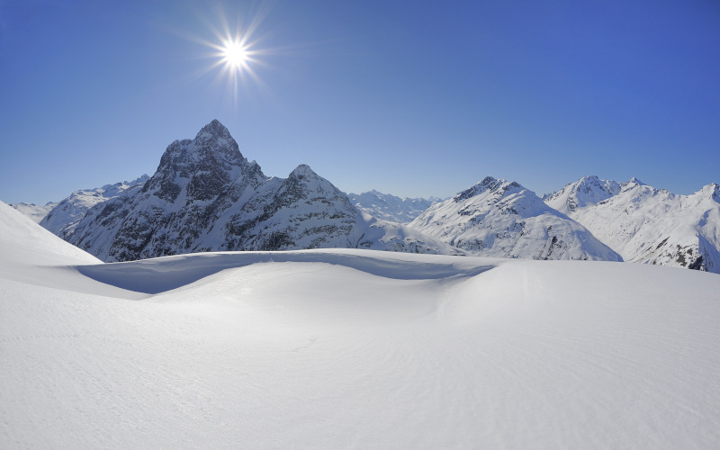 skiing in St Anton, Arlberg mountains
