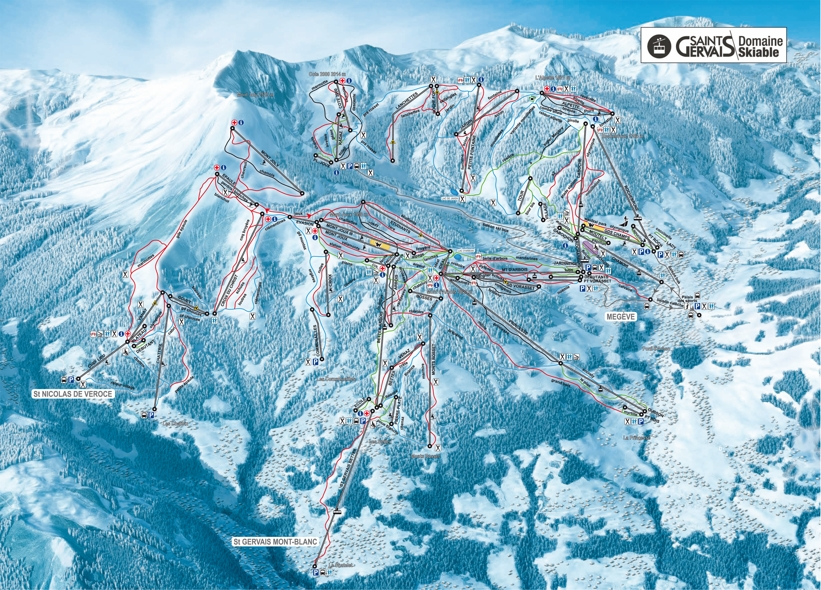 St Gervais Piste Map Ski Area Map Saint Gervais My Chalet Finder