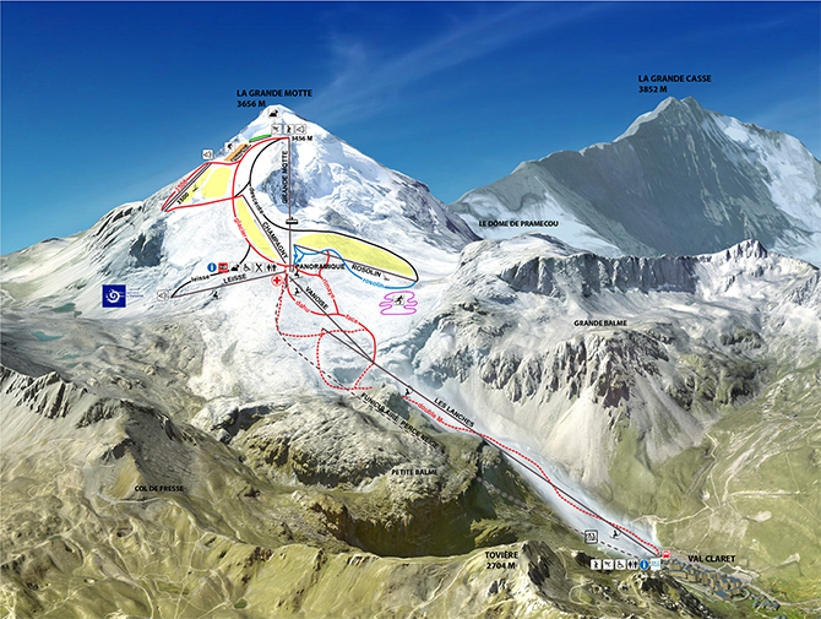Tignes Piste Map Tignes Ski Area Trail Map My Chalet Finder