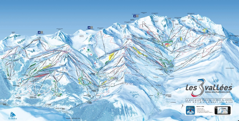 Piste map for Val Thorens