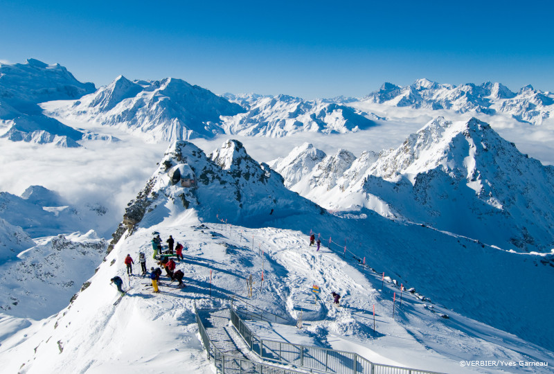 verbier ski tour around mont fort, off-piste skiing