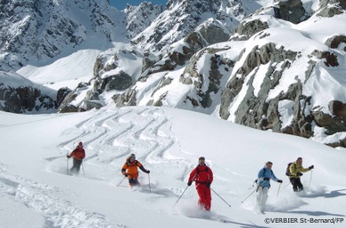veysonnaz ski touring, mountain guided ski tours