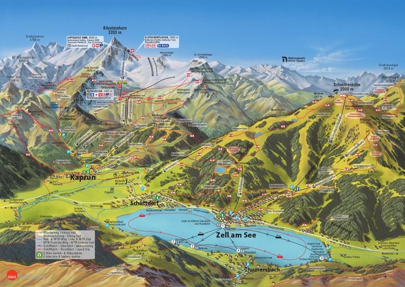 Zell am See Kaprun Piste Map Skiing Zell am See My Chalet Finder
